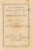 DISTRIBUTION DES PRIX : 1898, Prix De Certificat D'Etudes, Ecole Primaire Supérieure Filles, Henriette Legrand, 2 Scans - Diplômes & Bulletins Scolaires