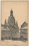 X3362 Dresden - Die Frauenkirche - Illustrazione Illustration / Viaggiata 1921 - Dresden