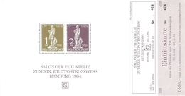BR DEUTSCHLAND - 3 VIGNETTEN 1984 XIX WELTKONGRESS HAMBURG - U.P.U.