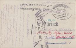 DR Feldpostkarte Bpst. Naumburg-Saalfeld Gel. Nach Mannhein Irrläufer Empfänger In Mannheim Nicht Ermittelt - Deutschland