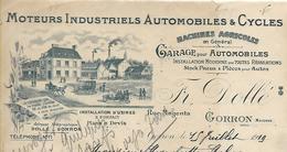 Facture Lettre 1919 / MAYENNE / GORRON / F. DOLLE / Garage Automobiles / Moteurs Autos Et Cycles - Automobile