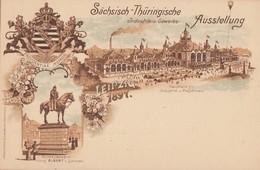 DR Privat-Ganzsache Minr.PP9 C17/01 Postfrisch Sächsisch-Thüringische Ausstellung 1897 - Deutschland