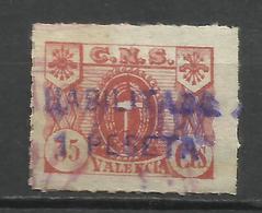 Q703-SELLO GUERRA CIVIL VALENCIA CENTRA NACIONAL SINDICALISTA FALANGE  .C.N.S,SIN DEFECTOS,SPAIN CIVIL WAR. - Vignettes De La Guerre Civile