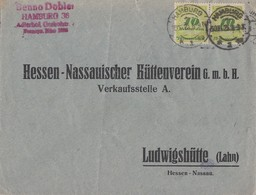 DR Brief Mef Minr.2x 328 Hamburg 30.11.23 Geprüft - Briefe U. Dokumente