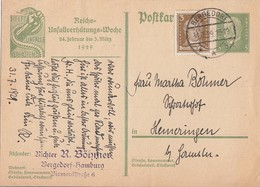 DR Ganzsache Minr.P186 Zfr. Minr.386 Bergedorf 31.7.29 - Briefe U. Dokumente