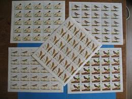 Fujeira Lot Oiseaux   5 Feuille De 25 Timbre   Neuf** - Oiseaux