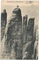 X3367 Sachs - Schweiz - Kletterpartie Am Dreifingerturm - Scrammsteine / Viaggiata 1921 - Germania