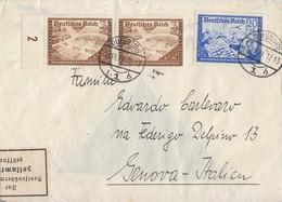 DR Brief Mif Minr.2x 702,711 Duisburg 23.10.39 Gel. Nach Italien Devisenkontrolle - Deutschland