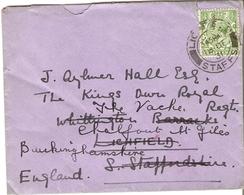 Grande-Bretagne 1931 - Enveloppe Adressée Au Kings Own Royal Regiment à Lichfield - Reroutée à Chalfont StGiles - Lettres & Documents