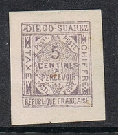 DIEGO-SUAREZ TAXE N°1 NSG - Unused Stamps