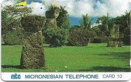 Northern Mariana Islands - Tamura - Tinian Stones - 10Units, 1991 - 25.000ex, Used - Noordelijke Marianen