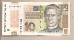"""Croazia - Banconota Circolata Da 10 Kuna """"10 Years National Bank"""" P-43 - 2004 - Croazia"""