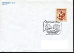 Österreich-  Auf Brief   1983   Schnellbahn 1983   Wien - Wolkersdorf - Mistelbach, Sonderstempel - Eisenbahnen
