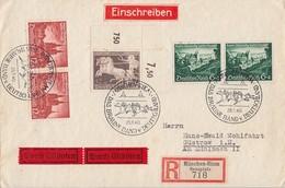 DR R-Eilbote-Brief Mif Minr.747 OER,2x 748, 2x 749 Zdr.W76 SST München 28.7.40 - Briefe U. Dokumente
