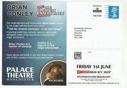 2018 PALACE THEATRE Manchester ADVERT COVER Card PRINTED 2nd STAMP ROYAL MAIL HQ8166 GB Brain Conley Matt Ricardo - Theatre