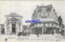 Bourges - Place Cujas Et Ecole Des Beaux Arts - 1909 - Bourges