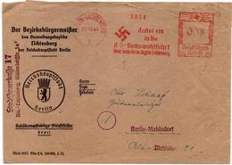 DR Dienstbrief Der Steuerkasse BERLIN-LICHTENBERG Mi NS-Werbung Für Die Volkswohlfahrt, 23.10.44 - Deutschland
