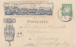 Bayern Privat-GS Zum X. Dt. Turnfest Nürnberg 1903 Gelaufen Einzug Der Turner - Bayern