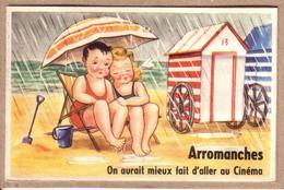 CALVADOS - ARROMANCHES - ENFANT , PLAGE , PARASOL - 23 - CARTE SYSTEME 10 VUES -  ON AURAIT MIEUX FAIT .. - éditeur CAP - Arromanches