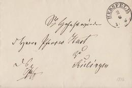 Thurn & Taxis Brief R2 Hersfeld 2.6.1856 Gel. Nach Frielingen - Thurn Und Taxis