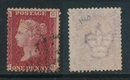 GB, 1864 Penny Red SG43, Plate 140, Superb Used (P) - Gebruikt