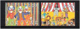 Faroe Islands 2002 Europa Cept: Circus, Mi 423-424, MNH(**) - Faeroër