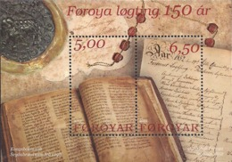 Faroe Islands 2002 150th Anniversary Of The Reintroduction Of Løgting (Parliament), Mi Bloc 13, MNH(**) - Faeroër