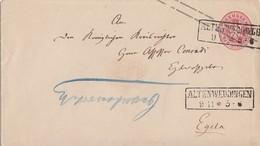 Preussen GS-Umschlag 1 Sgr. R2 Altenweddingen 9.11. Gel. Nach Egeln - Preussen