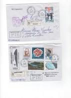 TAAF>  6  Lettres Recommandées Avec  Les N° 403/414 Oblitération SAINT PAUL - Blocs-feuillets