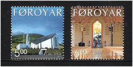 Faroe Islands 2002 New Church Of Gøta (. 1995), Mi 433-434, MNH(**) - Faeroër