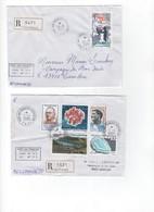 TAAF>  6  Lettres Recommandées Avec  Les N° 403/414 Oblitération KERGUELEN - Blocs-feuillets