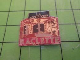 513G Pin's Pins / Rare Et De Belle Qualité !!! THEME : ALIMENTATION / RESTAURANT (Coucou Gégé) LE MONTAGNON RACLETTE - Food