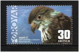 Faroe Islands 2002 Icelandic Merlin (Falco Columbarius Subaesalon), Mi 435, MNH(**) - Faeroër
