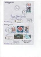 TAAF>  6  Lettres Recommandées Avec  Les N° 403/414 Oblitération TERRE ADELIE - Blocs-feuillets
