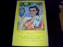 Publicitee 1 Volet De  La Couverture   Cartonee De L'annuaire Agenda   De La Cremerie 1954  Avec Pub  Cafe Paolo - Dépliants Touristiques