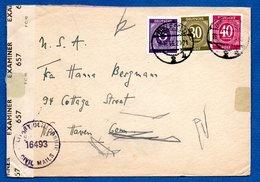 RDA / Enveloppe / De Bielefeld / Pour New Haven / 16-10-1946 / Censure - [6] Democratic Republic