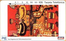 Peru - PE-M1A, Entel/RED, Segunda Serie Enero/94, Tamura, Manto Paracas, 105 U, 10.000ex, 1994, Used - Peru