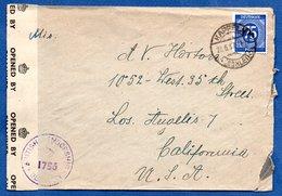 RDA / Enveloppe / De Kappeln  / Pour Los Angeles  / 28-6-1947 / Ouvert Par : British Censorship - [6] Democratic Republic