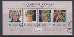 British Antarctic Territory (BAT) 1998 Princess Diana M/s ** Mnh (39502) - Ongebruikt