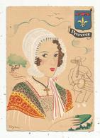 Cp,illustrateur, Signée DYL ,folklore , Blason , PROVENCE , Vierge , Ed. BD , N° 1208 W - Illustrators & Photographers