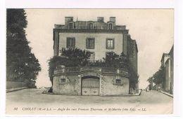 CPA. Cholet. Angle Des Rues François Tharreau Et St Martin.  (596) - Cholet