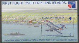 Falkland Islands 1999 Philexfrance/First Flight Over Falkland Islands M/s ** Mnh (39503) - Falklandeilanden