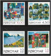 Faroe Islands 2001  Gemälde Von Zacharias Heinesen (*1936), Mi 404-407, MNH(**) - Färöer Inseln