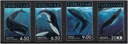 Faroe Islands 2001 Conservation: Whales, Mi 408-411, MNH(**) - Féroé (Iles)
