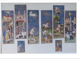 Série De 4 Lithographies Des Mois De L'année  Impression Avec Encre Or  Mois De Janvier à Décembre : Gravures Médiévales - Histoire