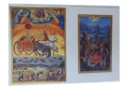 Lithographie Sur Fond Or  Les Grandes Heures D'Anne De Bretagne  Illuminations Pour Louis XII - Histoire
