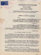 VP12.744 - BOURGES - Acte De 1962 - Entre La S.N.C.F Ligne De VIERZON à SAINCAIZE - Gare De BOURGES & La Sté Agricole.. - Chemin De Fer