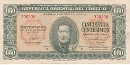 BILLETE DE URUGUAY DE 50 CENTESIMOS DEL AÑO 1939 EN CALIDAD EBC (XF) (BANKNOTE) - Uruguay