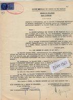 VP12.745 - TOURS - Acte De 1962 - Entre La S.N.C.F - Gare D' AMBOISE & La Sté L'Expansion Electrique à AMBOISE - Chemin De Fer