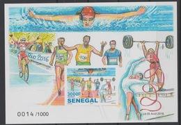 Sénégal 2016 IMPERF NON DENTELE Jeux Olympiques Olympic Games Olympia Rio De Janeiro - Verano 2016: Rio De Janeiro